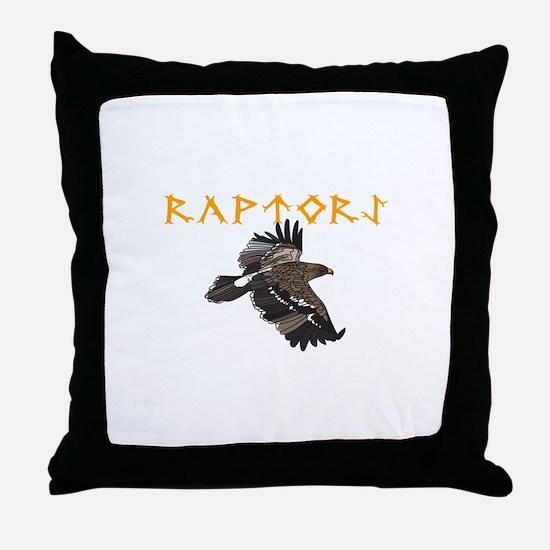 RAPTORS MASCOT Throw Pillow