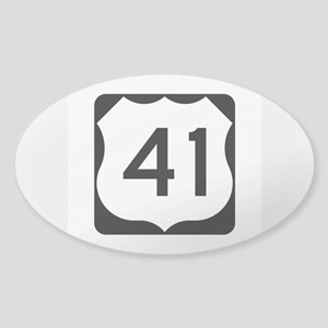 US Route 41 Sticker (Oval)