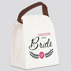 Cute Stylish Grandma of the Bride Canvas Lunch Bag