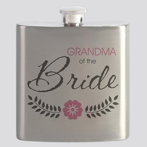 Cute Stylish Grandma of the Bride Flask