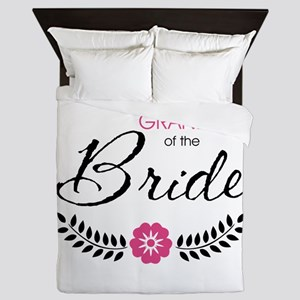Cute Stylish Grandma of the Bride Queen Duvet