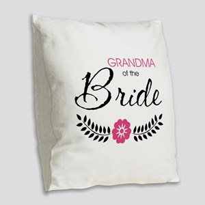 Cute Stylish Grandma of the Br Burlap Throw Pillow
