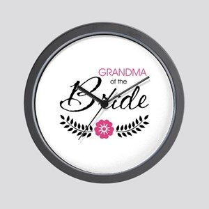 Cute Stylish Grandma of the Bride Wall Clock