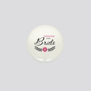 Cute Stylish Grandma of the Bride Mini Button