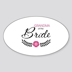 Cute Stylish Grandma of the Bride Sticker (Oval)