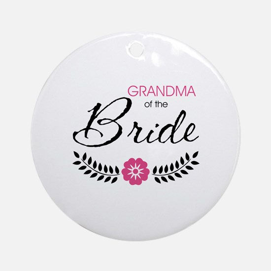 Cute Stylish Grandma of the Bride Ornament (Round)