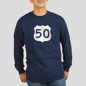 US Route 50 Long Sleeve Dark T-Shirt