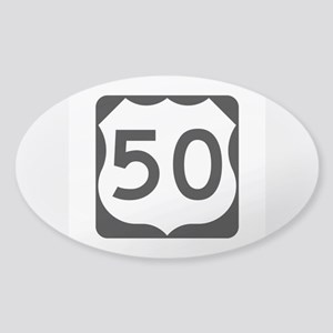 US Route 50 Sticker (Oval)