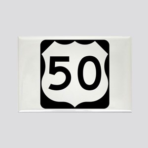 US Route 50 Rectangle Magnet