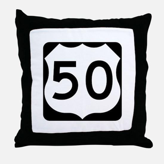 US Route 50 Throw Pillow