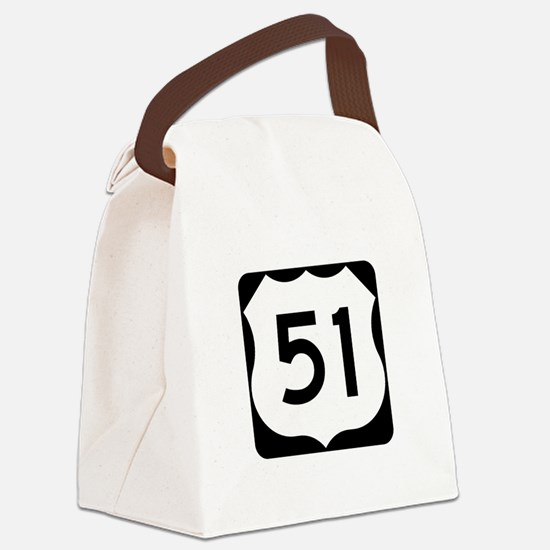 US Route 51 Canvas Lunch Bag