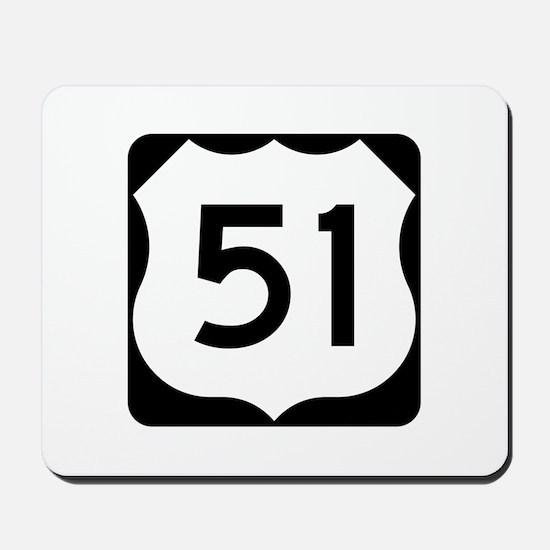 US Route 51 Mousepad