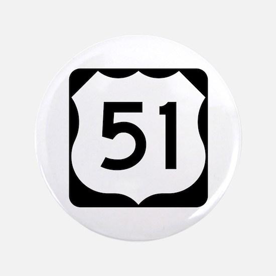 "US Route 51 3.5"" Button"