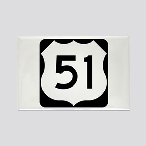 US Route 51 Rectangle Magnet