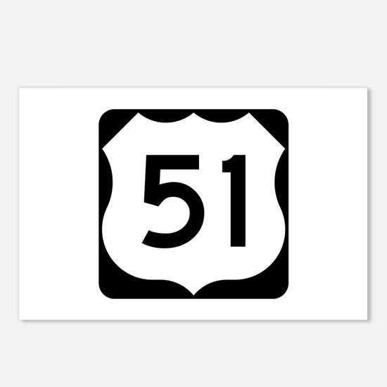 US Route 51 Postcards (Package of 8)