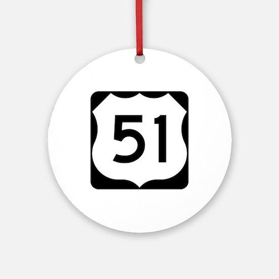 US Route 51 Ornament (Round)