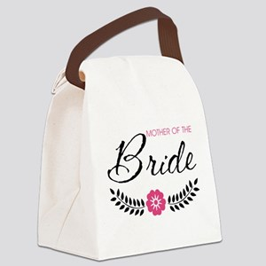 Cute Pink Mother of the Bride Canvas Lunch Bag