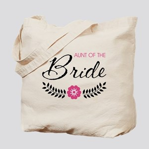 Cute Pink Aunt of the Bride Tote Bag