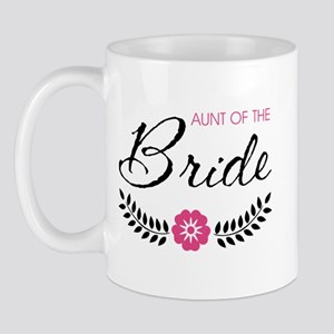 Cute Pink Aunt of the Bride Mug