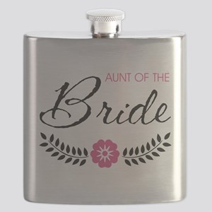 Cute Pink Aunt of the Bride Flask