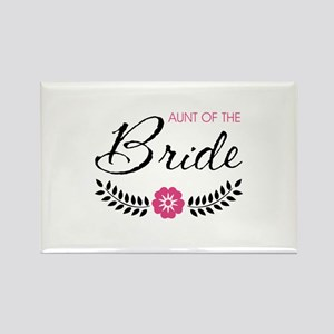 Cute Pink Aunt of the Bride Rectangle Magnet