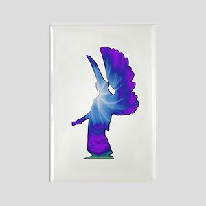 Blue Rainbow Angel Rectangle Magnet