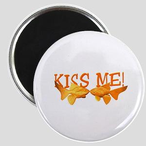 Kiss Me Goldfish Magnet