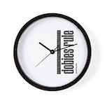 Dobies Rule Wall Clock