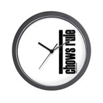 Chows Rule Chow Chow Wall Clock