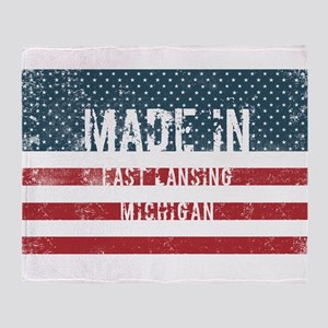 Made in East Lansing, Michigan Throw Blanket