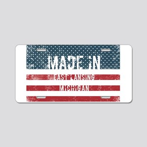 Made in East Lansing, Michi Aluminum License Plate