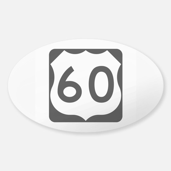 US Route 60 Sticker (Oval)