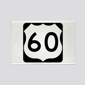 US Route 60 Rectangle Magnet