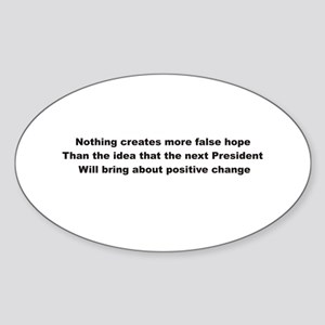 Election Sham False Hope Oval Sticker
