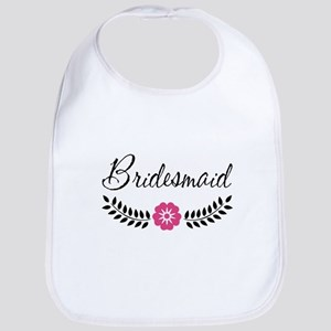 Cute Pink Flower Bridesmaid Bib