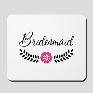 Cute Pink Flower Bridesmaid Mousepad