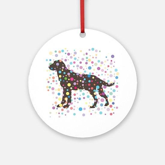 Labrador Retriever Round Ornament