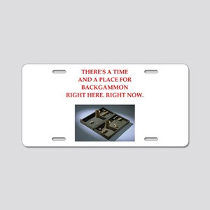 backgammon Aluminum License Plate