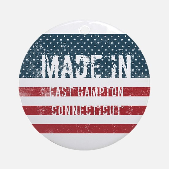 Made in East Hampton, Connecticut Round Ornament