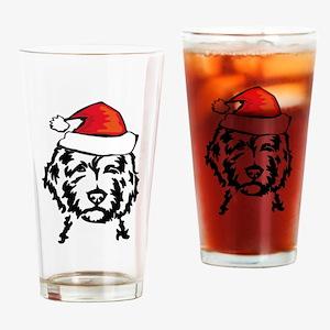 christmas dog Drinking Glass