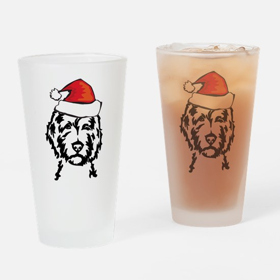 christmas dog Drinking Glass
