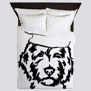 christmas dog Queen Duvet