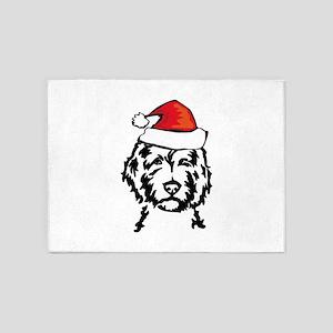 christmas dog 5'x7'Area Rug