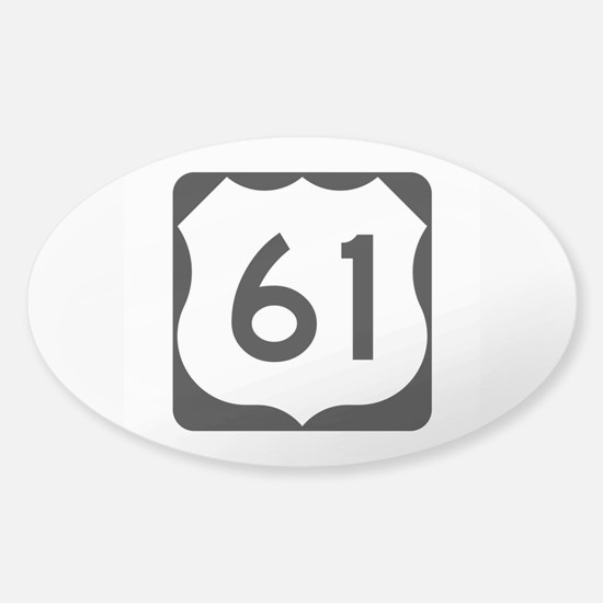 US Route 61 Sticker (Oval)