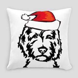 christmas dog Everyday Pillow