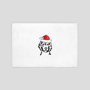 christmas dog 4' x 6' Rug