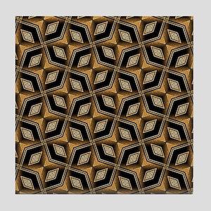 Earth Man Geometric Diamonds Tile Coaster