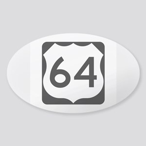 US Route 64 Sticker (Oval)
