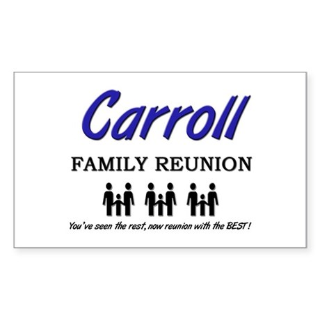 Carroll Family Reunion Rectangle Sticker