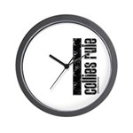 Collies Rule Wall Clock